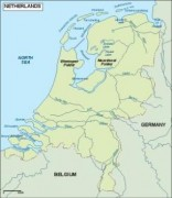 netherlands_topographical vector map