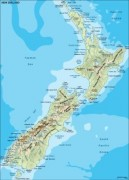 newzealand_topographical vector map