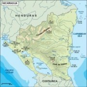 nicaragua_topographical vector map