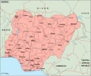 nigeria_geography vector map