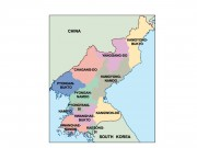 north korea powerpoint map