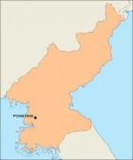 northkorea_blankmap vector map