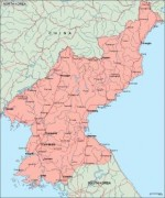 northkorea_geography vector map