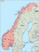 norway_geography vector map