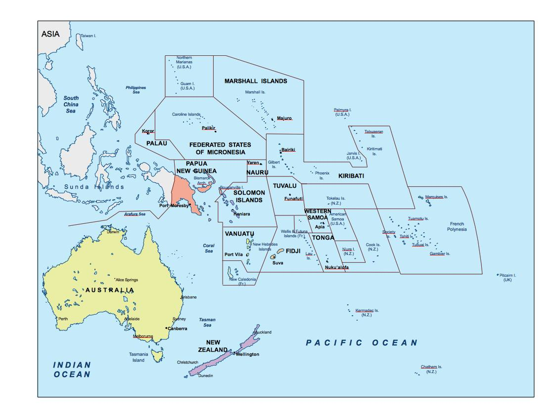 Download Oceania Ppt Powerpoint Maps. Open Office Presentations as ...