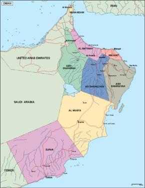 Download Oman Vector Maps As Digital File Purchase Online Our - Oman map download