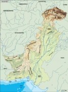 pakistan_topographical vector map