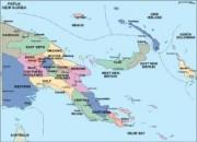 papua new guinea_political vector map