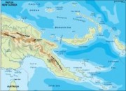 papua new guinea_ vector map topographical