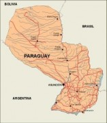 paraguay_countrymap vector map