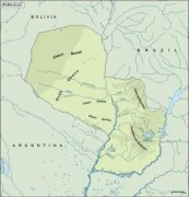 paraguay_topographical vector map