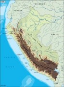 peru_topographical vector map