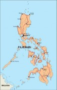 philippines_countrymap vector map