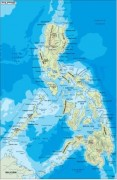 philippines_topographical vector map