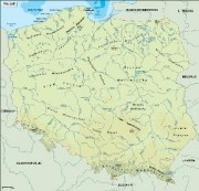 poland_topographical vector map
