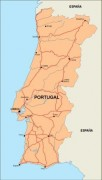 portugal_countrymap vector map