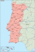 portugal_geography vector map