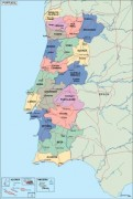 portugal_political vector map