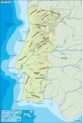 portugal_topographical vector map