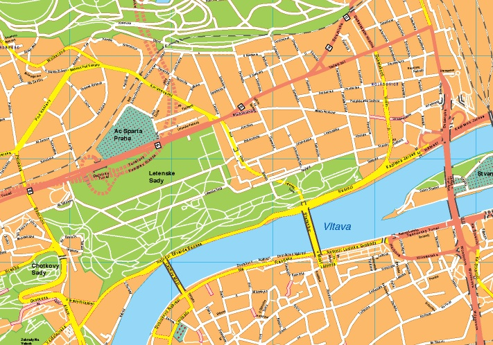 prague map vector map