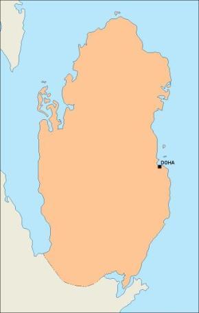 Qatar Vector maps | Illustrator vector maps
