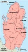 qatar_geography vector map
