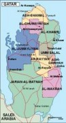 qatar_political vector map
