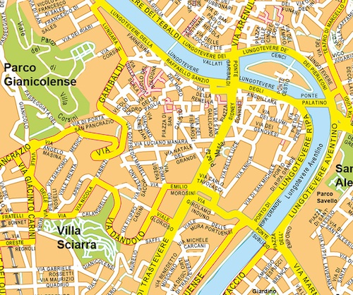 roma vector map