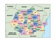 romania powerpoint map