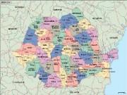 romania_political vector map