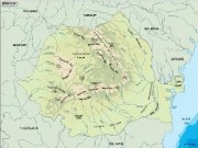 romania_topographical vector map