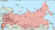 russia_geography vector map