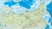 russia_topographical vector map