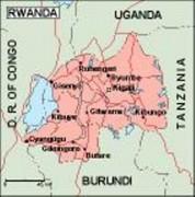 rwanda_geography vector map