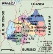 rwanda_political vector map