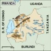 rwanda_topographical vector map
