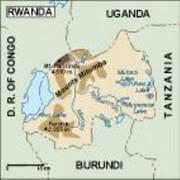 rwanda_topographical vector map