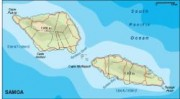 samoa_topographical vector map
