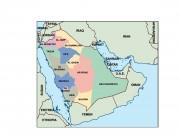 saudi arabia powerpoint map