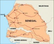 senegal_countrymap vector map