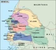 senegal_political vector map