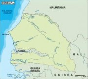 senegal_topographical vector map