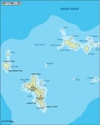 seychelles_topographical vector map