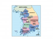 south korea powerpoint map