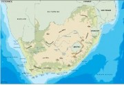 southafrica_topographical vector map