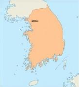 southkorea_blankmap vector map