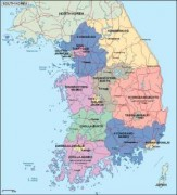southkorea_political vector map