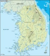 southkorea_topographical vector map