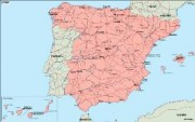 spain_geography vector map