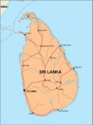 srilanka_countrymap vector map
